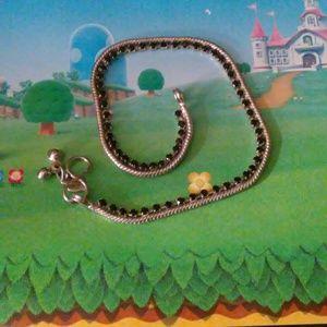 Jewelry - Ankle Bracelet with Onyx